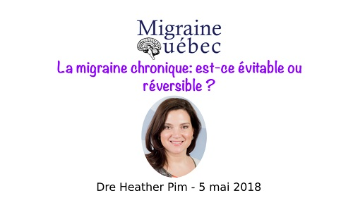 La migraine chronique: est-ce évitable ou réversible?